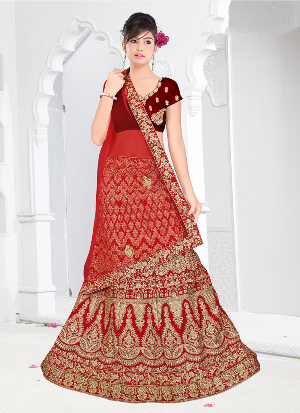 Embroidered Trendy Designer Lehenga Choli