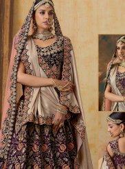 Embroidered Velvet Designer A Line Lehenga Choli