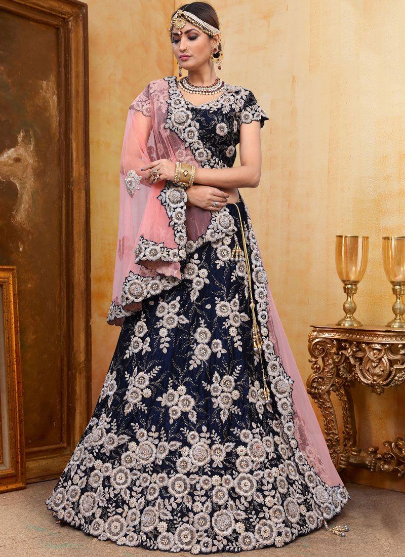 Embroidered Velvet Trendy Designer Lehenga Choli