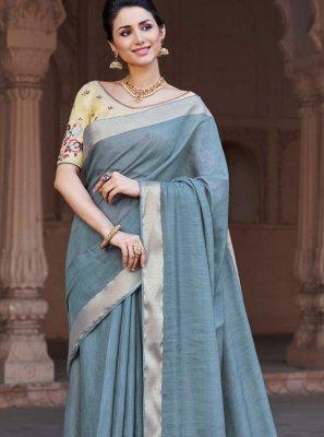 Embroidered Viscose Classic Designer Saree