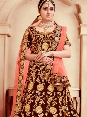 Embroidered Wedding A Line Lehenga Choli