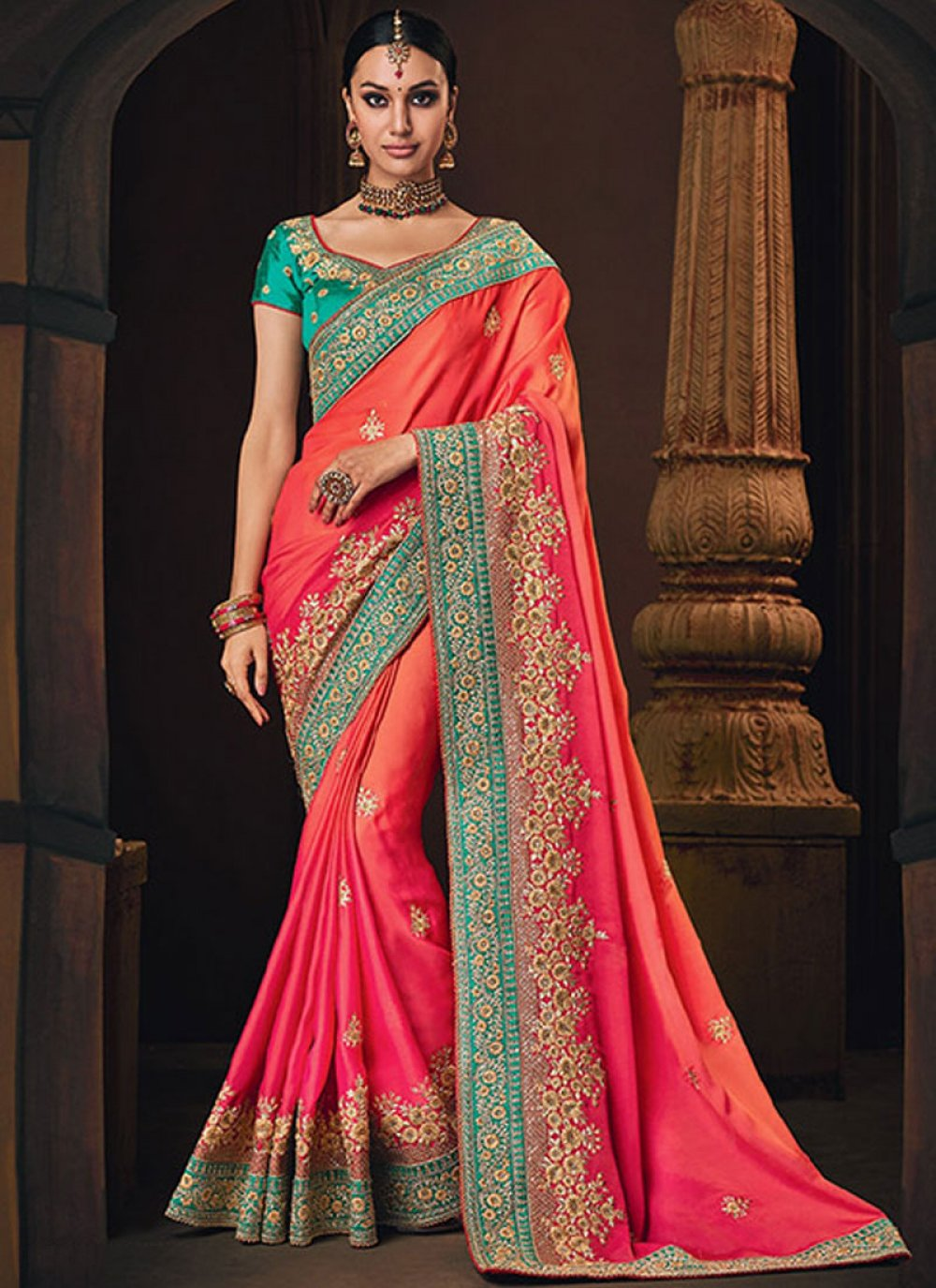 Embroidered Wedding Designer Traditional Saree