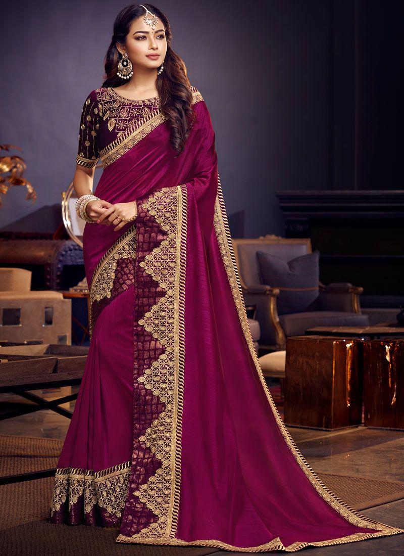 Embroidered Wedding Saree