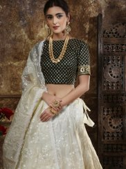 Embroidered White Lehenga Choli