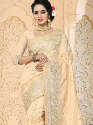 Embroidered Work Art Silk Designer Traditional Saree