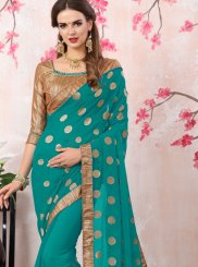 Embroidered Work Bollywood Saree