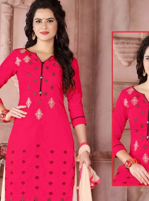 Embroidered Work Hot Pink Designer Palazzo Suit