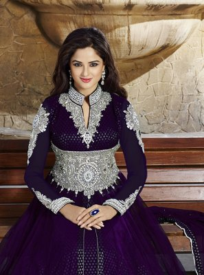 Embroidered Work Net Anarkali Salwar Kameez