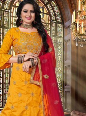 Embroidered Yellow Lehenga Choli