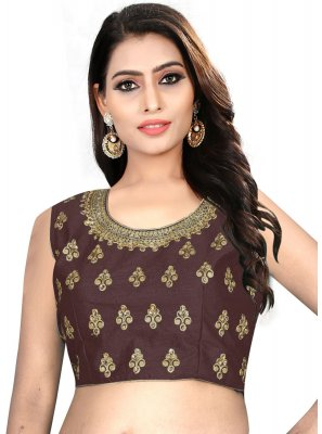 Engaging Brown Color Readymade Designer Blouse