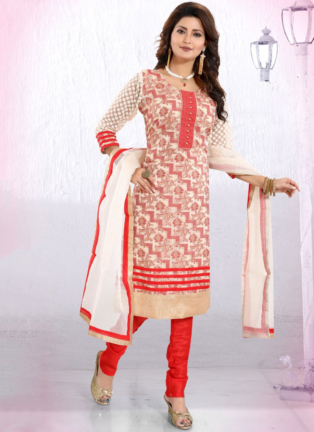 Fancy Ceremonial Churidar Designer Suit