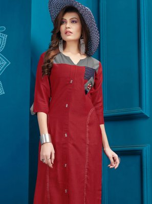 Fancy Cotton Party Wear Kurti