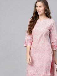 Fancy Cotton Party Wear Kurti in Multi Colour