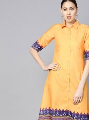 Fancy Cotton Silk Casual Kurti