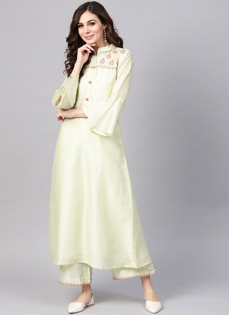 Fancy Cotton Silk White Butterfly Pallu Saree