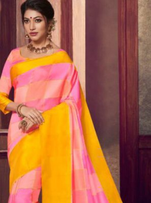 Fancy Fabric Abstract Print Classic Saree