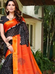 Fancy Fabric Black Casual Saree