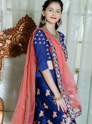 Fancy Fabric Blue Resham Lehenga Choli
