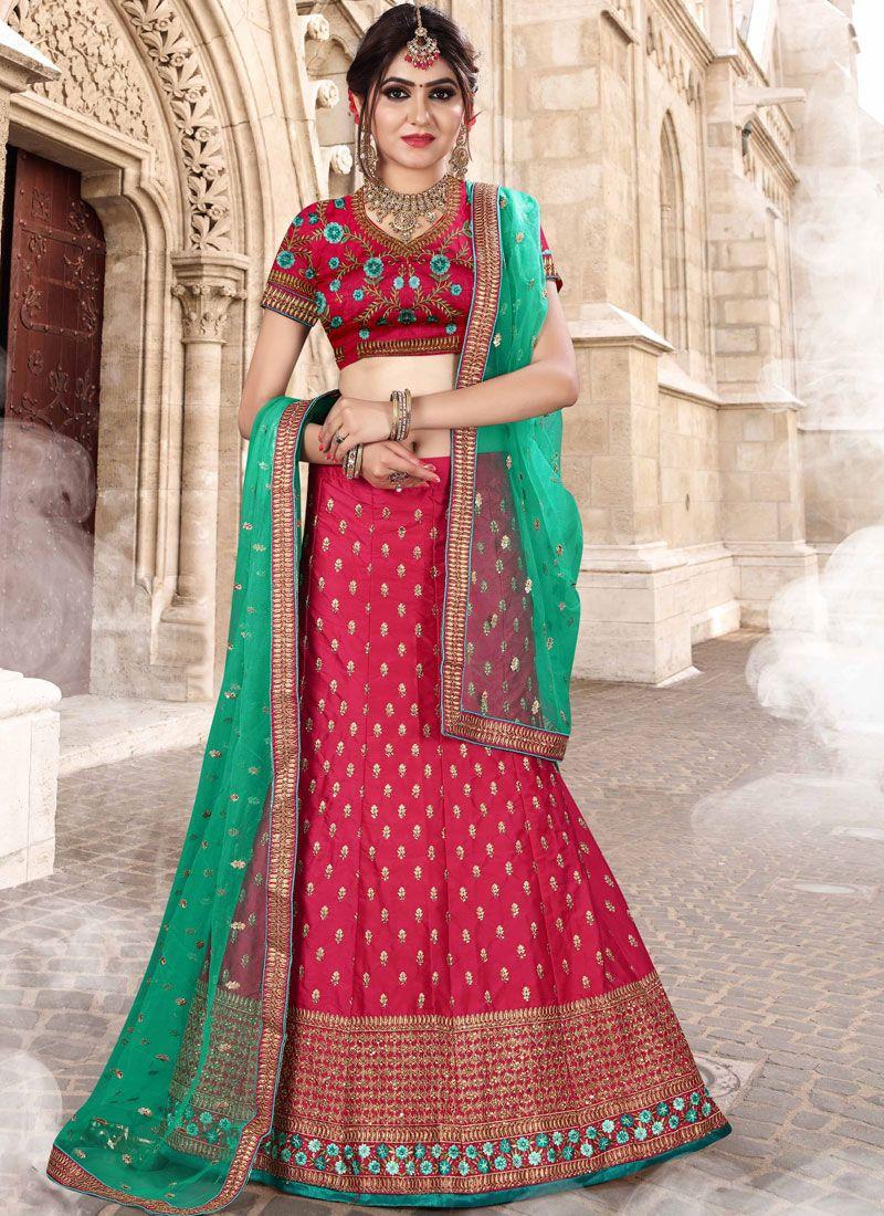 55844b0010 Buy Fancy Fabric Bridal Lehenga Choli Online -