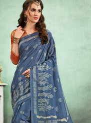 Fancy Fabric Casual Saree in Multi Colour