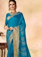 Fancy Fabric Ceremonial Designer Traditional Saree