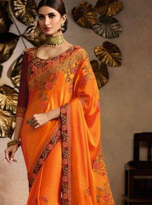 Fancy Fabric Ceremonial Trendy Saree