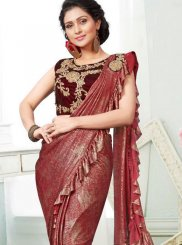 Fancy Fabric Designer Saree in Multi Colour