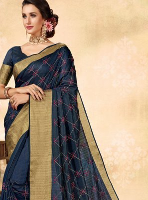 Fancy Fabric Embroidered Classic Saree