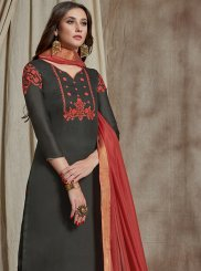 Fancy Fabric Embroidered Designer Palazzo Suit