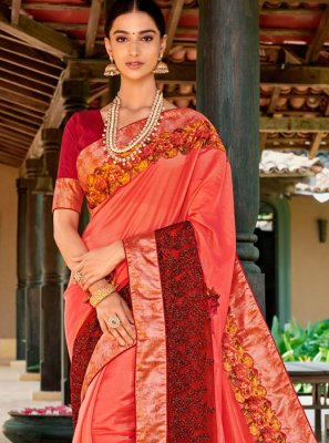 Fancy Fabric Embroidered Designer Traditional Saree
