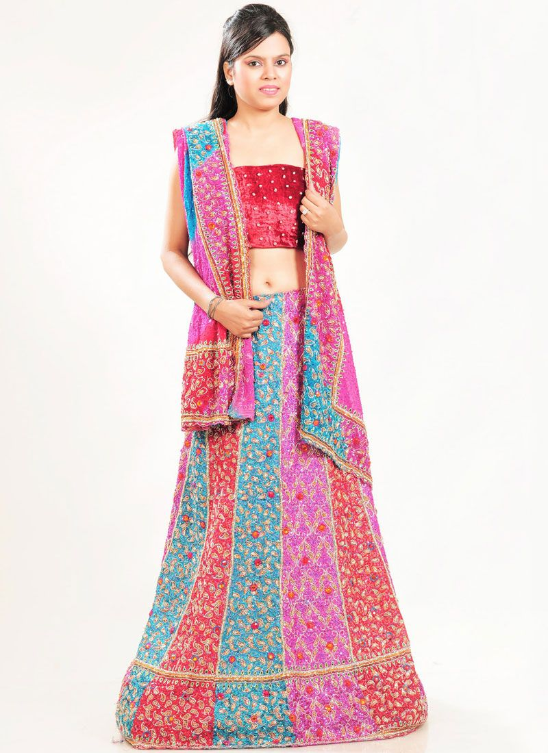Fancy Fabric Embroidered Lehenga Choli
