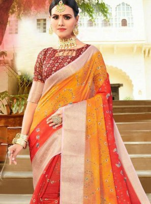Fancy Fabric Festival Shaded Saree
