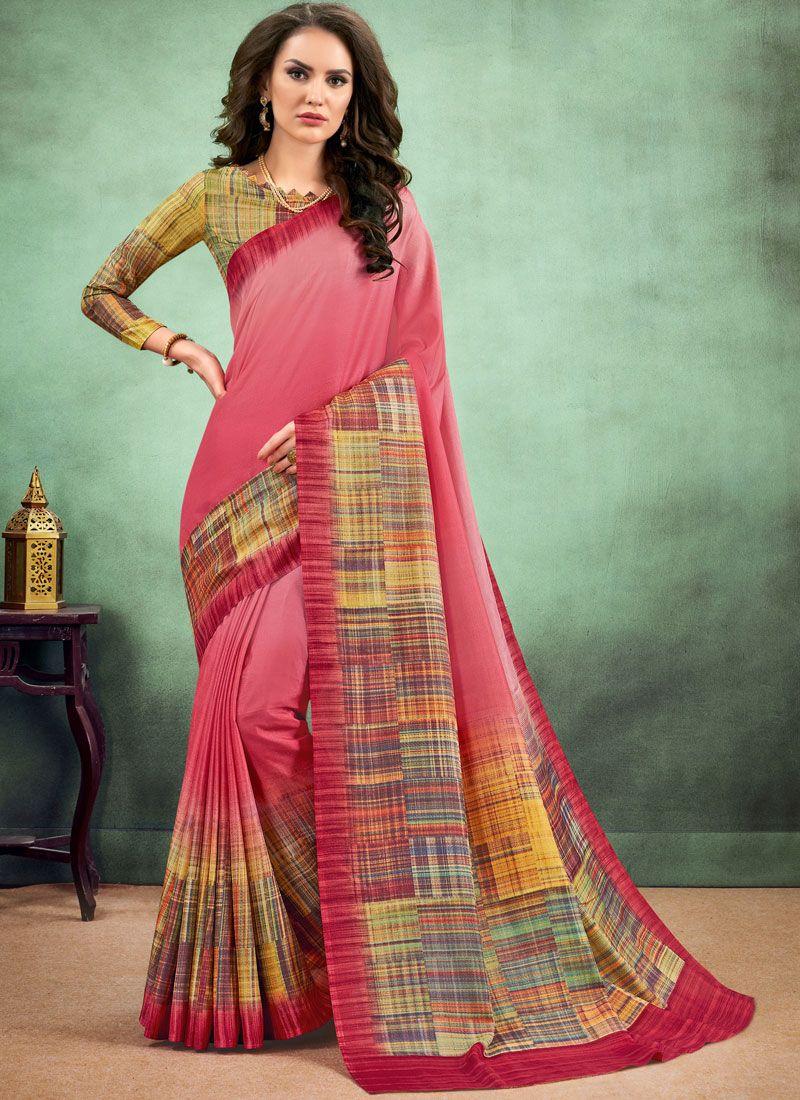 Fancy Fabric Multi Colour Casual Saree