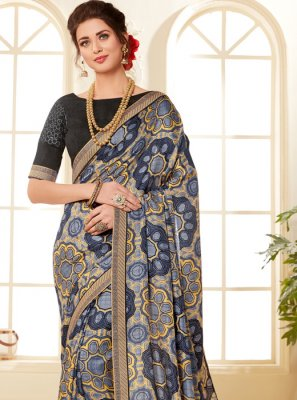 Fancy Fabric Multi Colour Printed Saree
