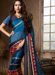 Fancy Fabric Multi Colour Printed Saree