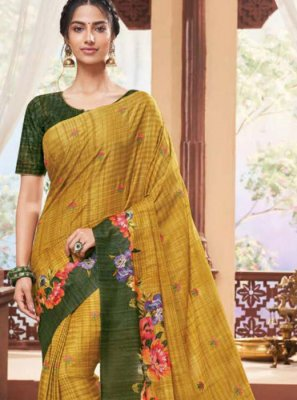 Fancy Fabric Party Traditional Saree