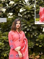 Fancy Fabric Pink Digital Print Designer Palazzo Suit