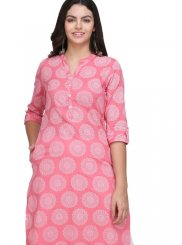 Fancy Fabric Print Casual Kurti
