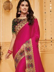 Fancy Fabric Reception Traditional Saree