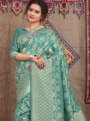 Fancy Fabric Sea Green Weaving Designer Traditional Saree