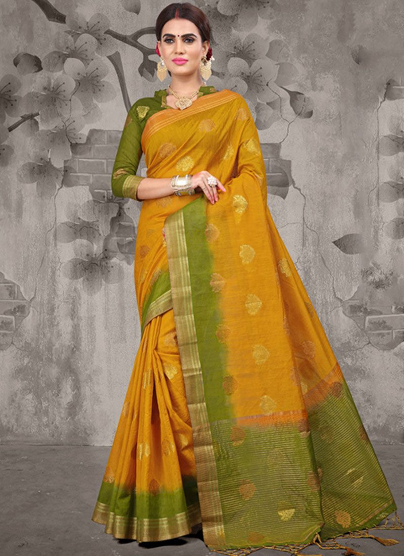 Fancy Fabric Weaving Classic Designer Saree
