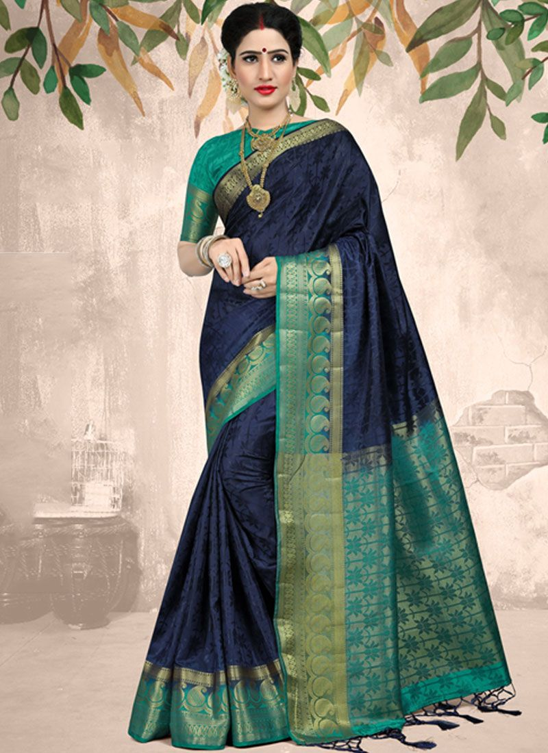 Fancy Fabric Weaving Classic Saree