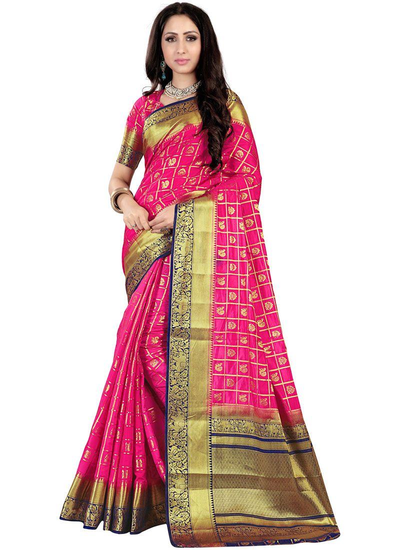 Fancy Fabric Weaving Traditional Saree