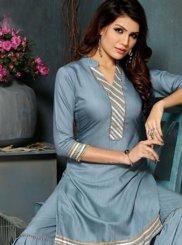 Fancy Fancy Fabric Party Wear Kurti in Grey