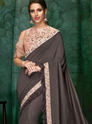 Fancy Faux Georgette Designer Traditional Saree