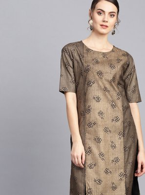 Fancy Gold Party Wear Kurti