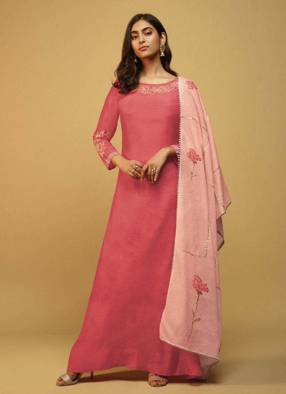 Fancy Hot Pink Party Wear Kurti