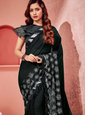 Fancy Lycra Black Classic Saree