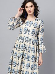 Fancy Multi Colour Cotton Party Wear Kurti