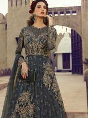 Fancy Net Floor Length Anarkali Suit